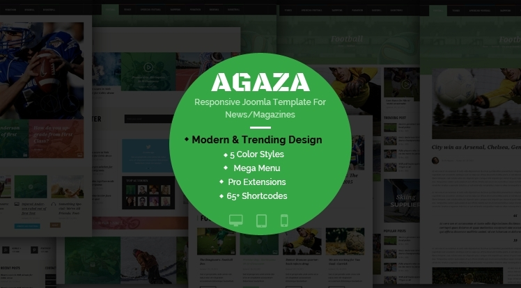 SJ Agaza - Premium Responsive Joomla Template For News Magazine Websites