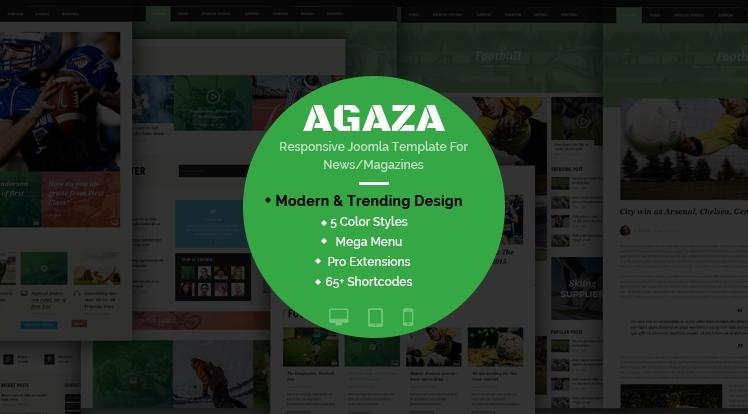 SJ Agaza - Premium Responsive Joomla Template For News Magazine Websites