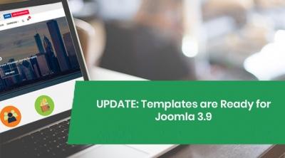 Joomla Templates are updated for Joomla 3.9