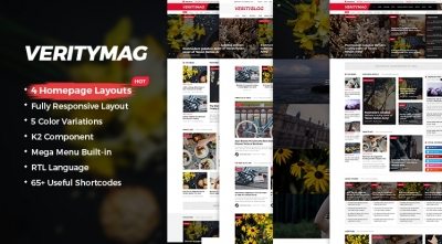 SJ VerityMag - Free Responsive News/Magazine Joomla Template