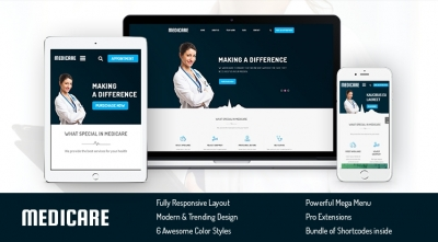 SJ Medicare - A Premium Joomla Template for Medical Service Websites