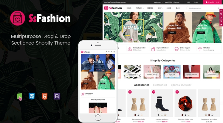 Ss Fashion - Multipurpose Drag & Drop Fashion Shopify Theme