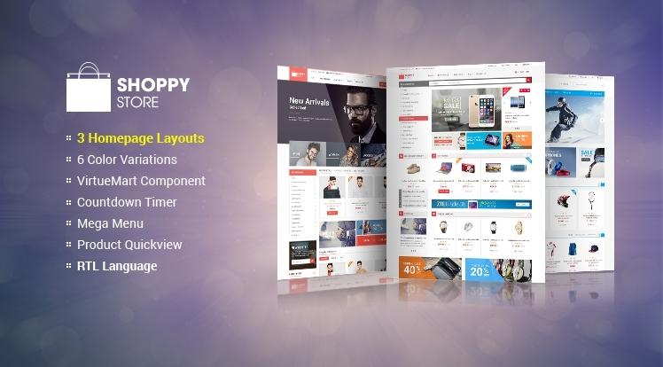 SJ ShoppyStore - A Sightly Responsive VirtueMart 3 Template