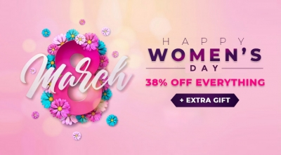 Happy Women's Day 2020: Save 38% OFF Storewide & Extra Gift