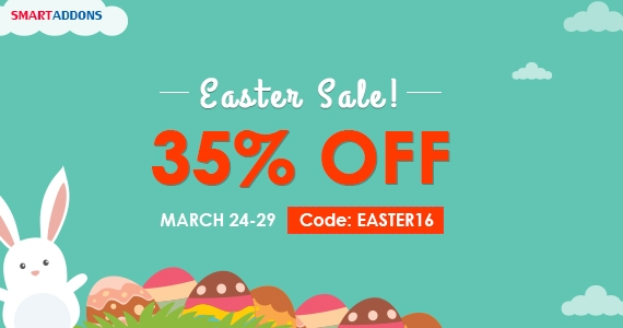 Easter Joomla Promo: 35% OFF Storewide and Get Special Easter Gift