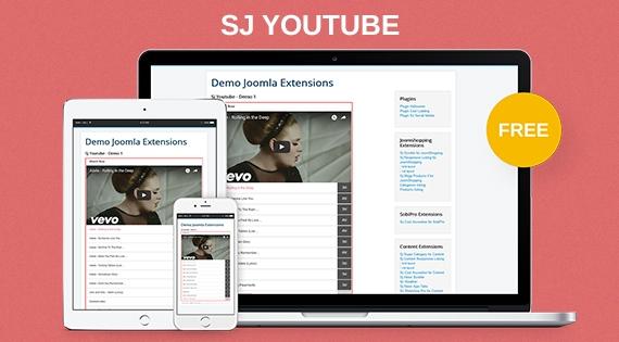 SJ Youtube - Free Responsive Joomla! Module