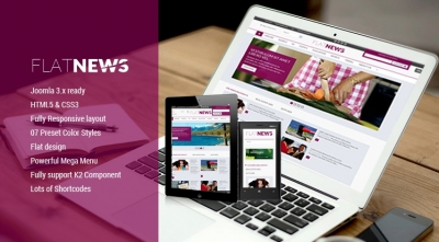 SJ Flat News - The responsive Joomla template for News & Magazine