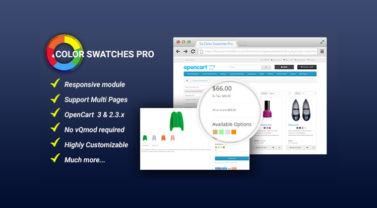 So Color Swatches Pro - Module for OpenCart 3 & 2.3.x