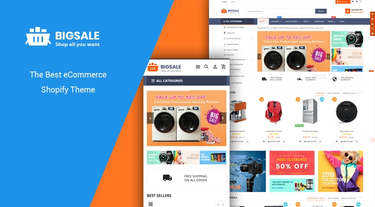 Ss BigSale - The Clean, Minimal & Unlimited Bootstrap 4 Shopify Theme
