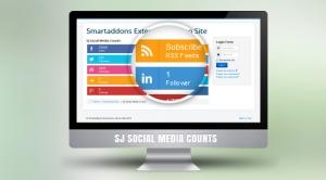 SJ Social Media Counter - Responsive Joomla! Module