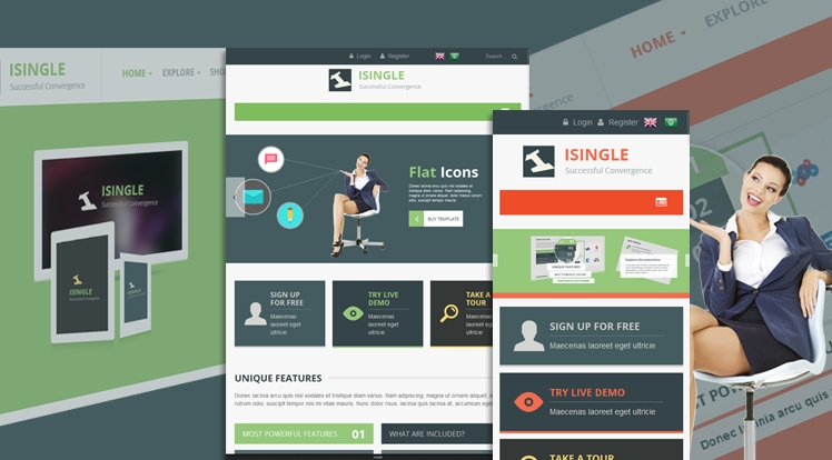 SJ iSingle - Responsive Joomla Business Template