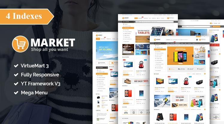 SJ Market - Responsive Joomla eCommerce Template