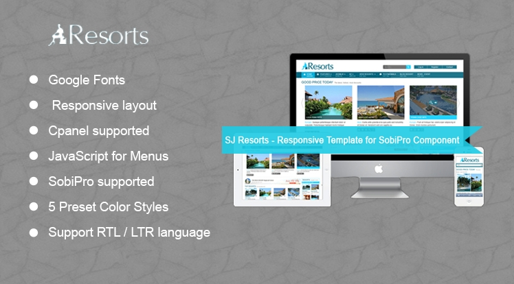 SJ Resorts - Responsive Joomla Resorts & spa Template