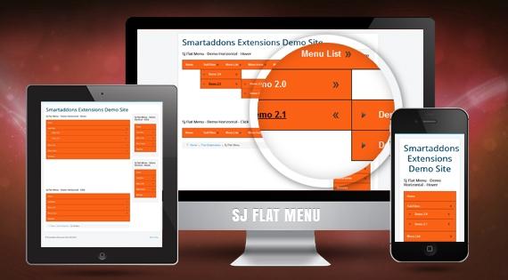 SJ Flat Menu - Free Responsive Joomla Module