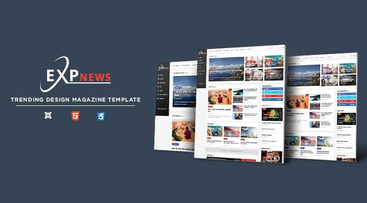 Sj ExpNews - Clean & Modern News Portal Joomla Template