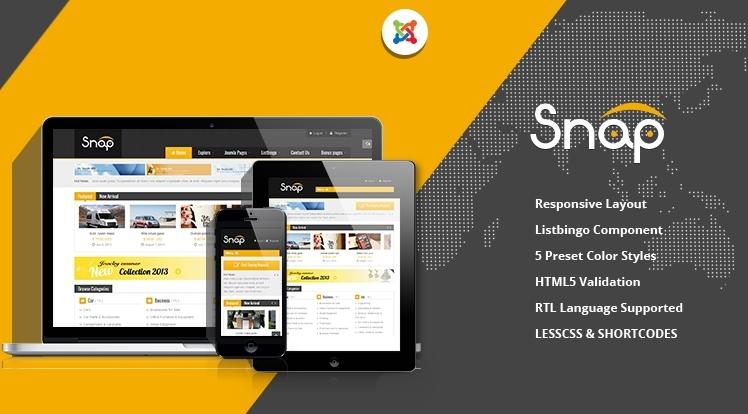 [Joomla] SJ Snap - A stunning classified Template for Joomla Community
