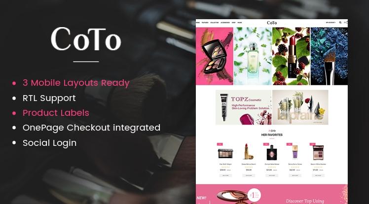 Coto - Beauty & Cosmetics OpenCart Theme