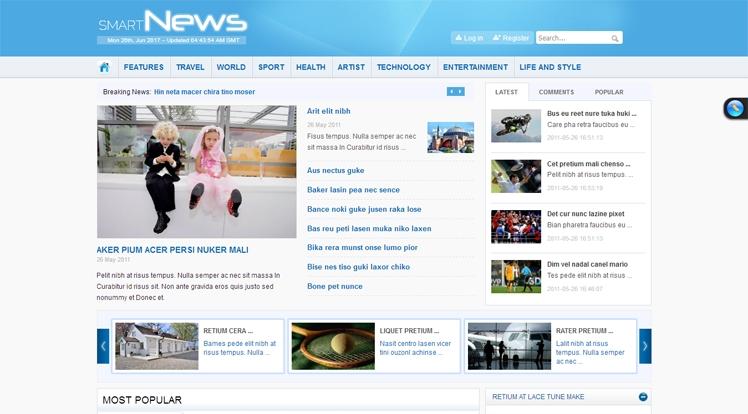 Smart News - Free Joomla Magazine Template