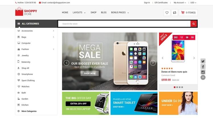ShoppyStore - Multipurpose Stencil Responsive BigCommerce Theme