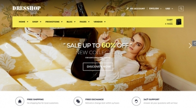 DresShop Free - Free Fashion WordPress Theme