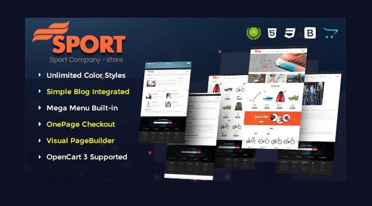 Sport - Multipurpose eCommerce OpenCart 3 Theme