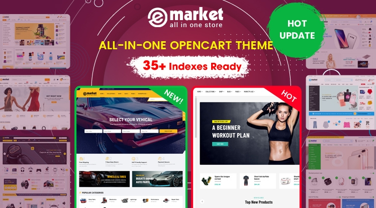 Design #35 Ready in eMarket - Weekly Bestselling OpenCart Theme
