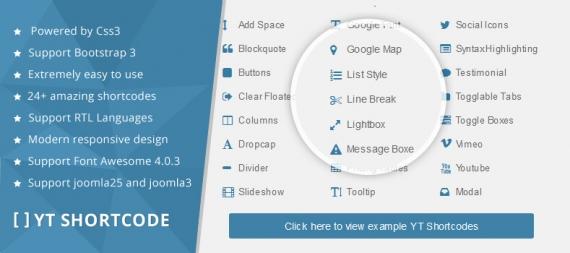 YT Shortcode with 24+ amazing styles for Joomla websites