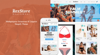 Ss RexStore - Multipurpose Swimwear & Lingerie Shopify Theme