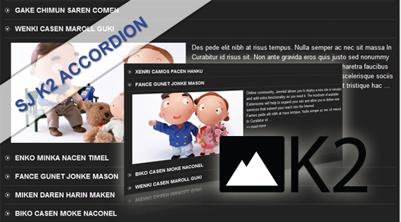 SJ K2 Accordion - Joomla! Module