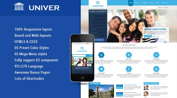 SJ Univer - Responsive Joomla Education Template