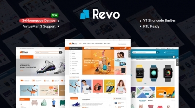 SJ Revo - A Clean & Delightful eCommerce VirtueMart 3 Template