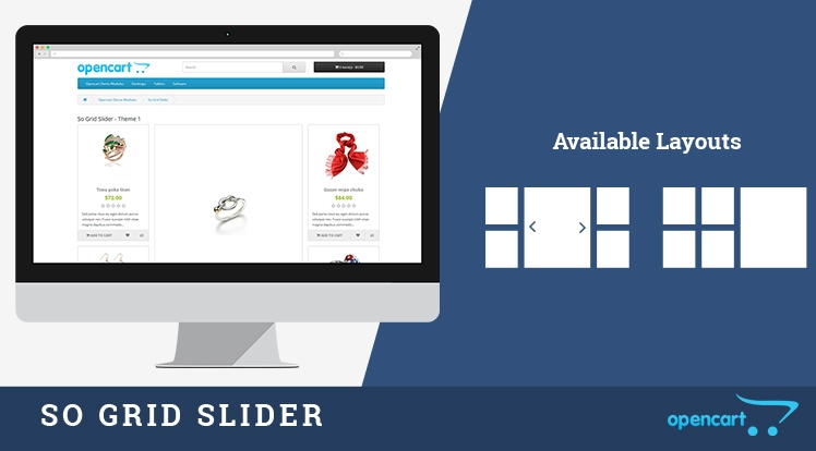 So Grid Slider - Responsive Opencart Module