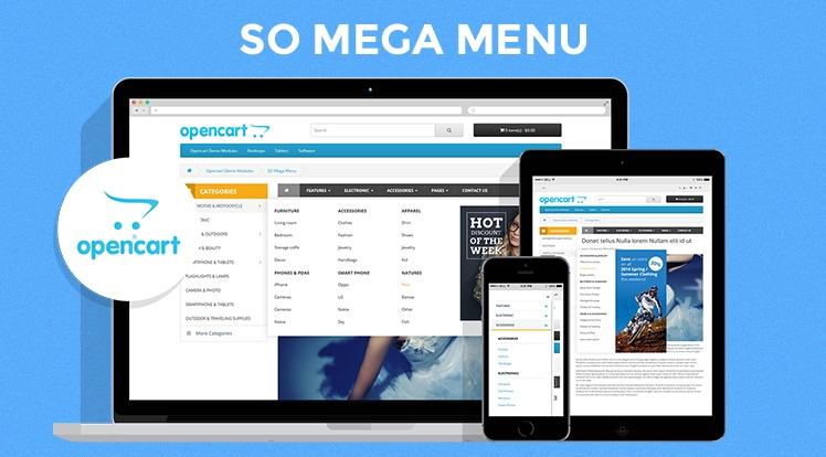 So Mega Menu - Drag & Drop | Responsive OpenCart 3.0.x & OpenCart 2.x Module