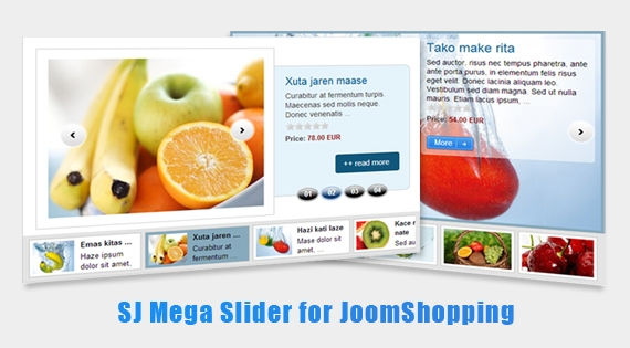 SJ Mega Slider for JoomShopping - Joomla! Module