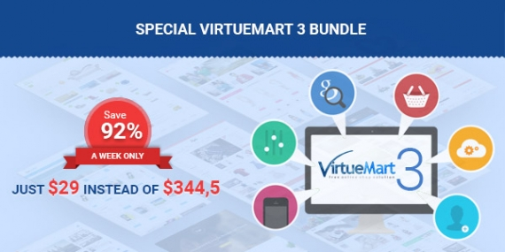 The Biggest VirtueMart 3 Bundle: Templates, Extensions & More! Only $29