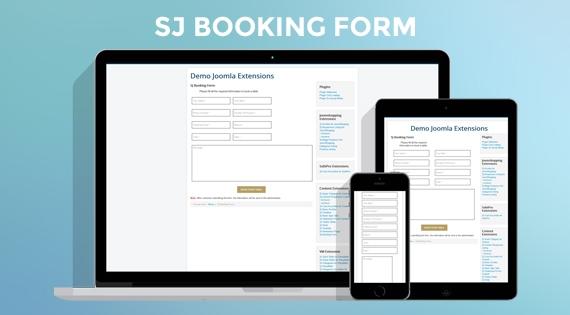 SJ Booking Form - Responsive Joomla! Module