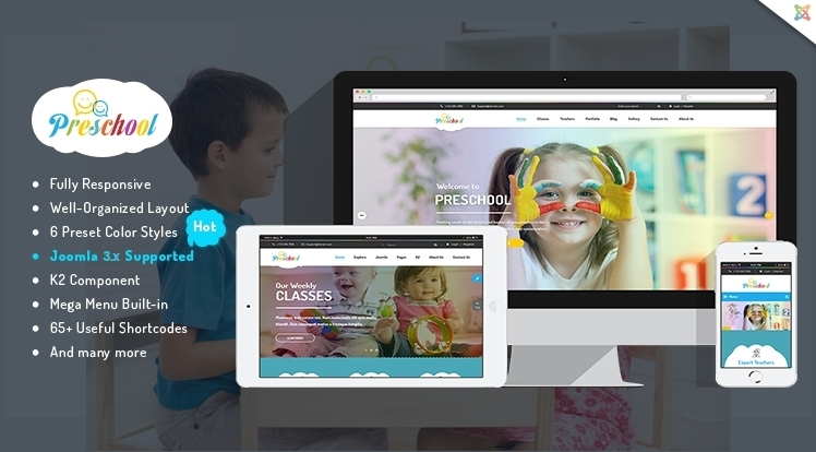 SJ Preschool - A Complete Responsive Children School/Education Joomla Template