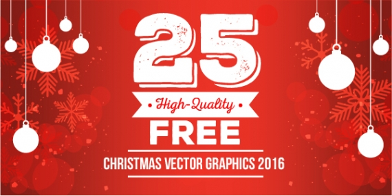 Download 25 High-Quality Free Christmas Vector Graphics 2016