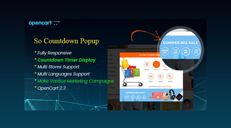 So Countdown Popup - Responsive Marketing Popup Pro for OpenCart