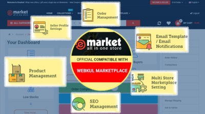 Webkul Marketplace with eMarket - super top hot OpenCart Theme 2020