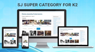 SJ Super Category for K2 - Responsive Joomla! Module