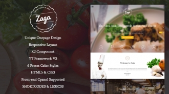 SJ Zaga - Responsive Joomla Restaurant Template