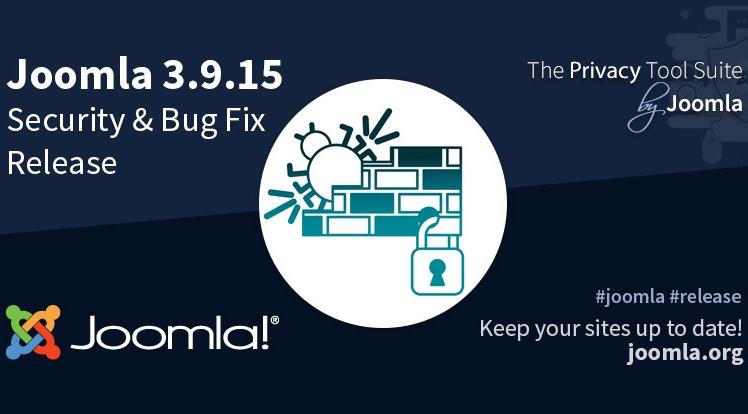 Joomla 3.9.15 Security & Bug Fix Release