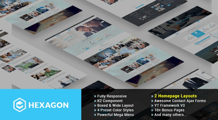 SJ Hexagon - Responsive Joomla Business Template