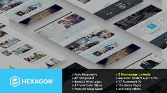 SJ Hexagon - Responsive Joomla Business Template