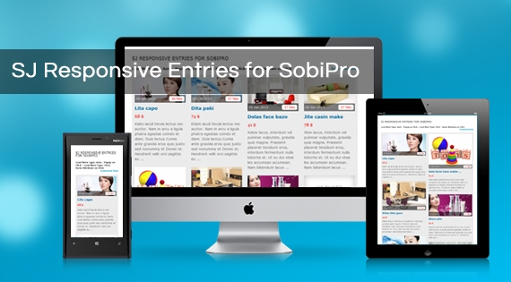 SJ Responsive Entries for SobiPro - Joomla! Module