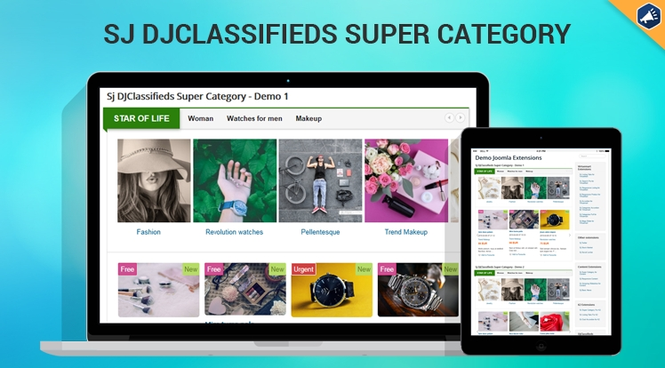 Sj Super Category for DJ-Classifieds Component - Responsive Joomla! Module