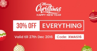 Christmas & New Year Sale: Save 30% OFF Everything & Get Exclusive Xmas Gifts