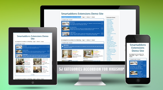 SJ Categories Accordion for HikaShop - Joomla! Module