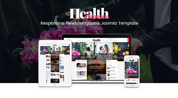 SJ HealthMag - Responsive Joomla news magazine Template